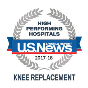 Knee Replacement Award fomr U.S. News & World Report